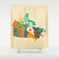 canada Shower Curtains featuring Canada by Mohit Gupta