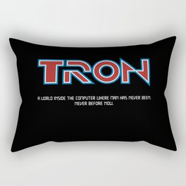 Tron 1982 - minimalist, alternative poster, scy-fi poster, Jeff Bridges, Bruce B Rectangular Pillow