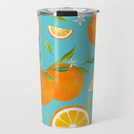 Teal Clementine Travel Mug