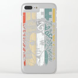 African American Shirt for Educated Strong Black Woman Queen T-Shirt Clear iPhone Case
