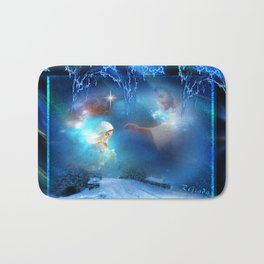 Holy Night - Christmas Art By Giada Rossi Bath Mat