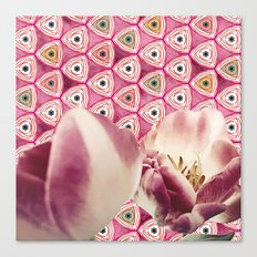 chiang candies & tulips Canvas Print