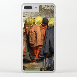 Working clothes, steam locomotives Clear iPhone Case