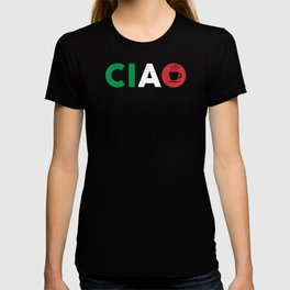 Ciao Italian Design I Love Italy / Bella Italia With Espresso Coffee For Italians And Italy Fans T-shirt