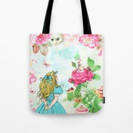 Alice in Wonderland tea party Tote Bag