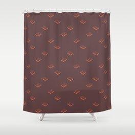 Cassette Pattern- Brown Shower Curtain