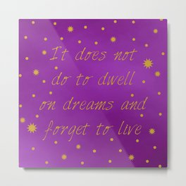 Albus Dumbledore Quote Metal Print