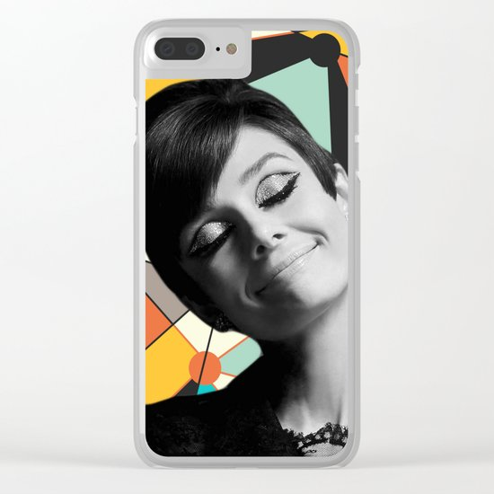 AUDREY HEPBURN 3 Clear iPhone Case