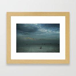 Mushroom Sunset Framed Art Print