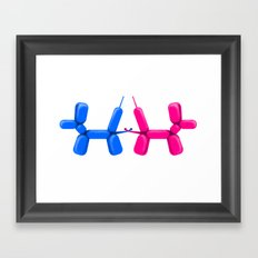 Balloon dogs Framed Art Print