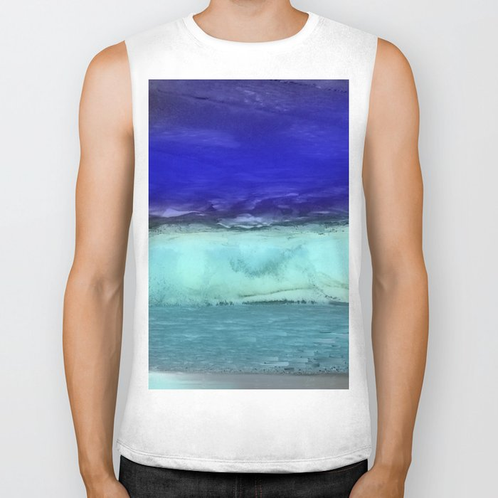 Midnight Waves Seascape Biker Tank