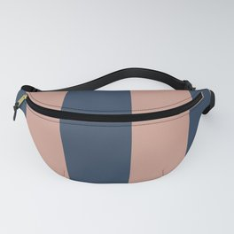5th Avenue Stripe No. 1 in Smoked Salmon and Midnight Blue Fanny Pack