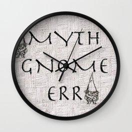 Myth Gnome Err Wall Clock
