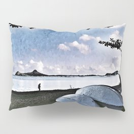 St Lucia Boat Pillow Sham