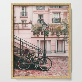 Bike in Paris Pink City Photography  Serving Tray