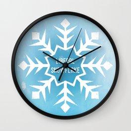 Liberal Snowflake Wall Clock