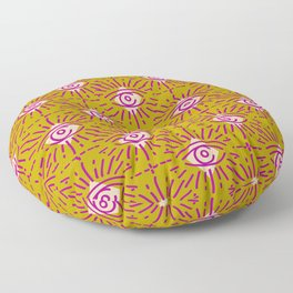 Dainty All Seeing Eye Pattern in Blush Floor Pillow