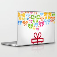 gift card Laptop & iPad Skins featuring Gift by aleksander1