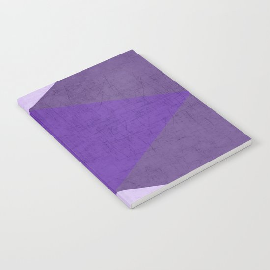 purple triangles Notebook