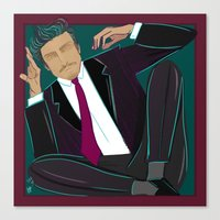 suit Canvas Prints featuring suit by Feje