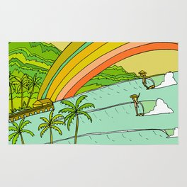 Surf Paradise Rainbow of Happiness Rug