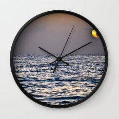 Key Sunset Wall Clock