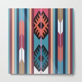 American Native Pattern No. 55 Metal Print