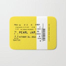 Concert Ticket 90's Grunge Bath Mat