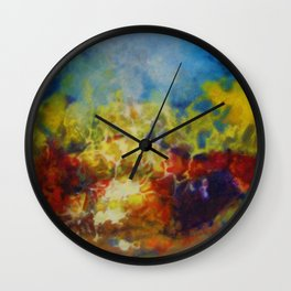 African American Masterpiece 'Hymns to the Sun IV' by Aubrey H. Williams Wall Clock