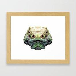 Komodo Dragon - Green Framed Art Print
