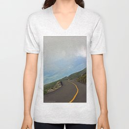 Road in the Clouds Unisex V-Neck