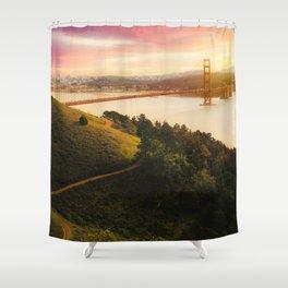 Golden Gate Bridge | San Francisco California Landscape Sunset Travel Photography Shower Curtain