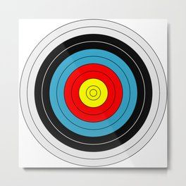 Archery Target Metal Print