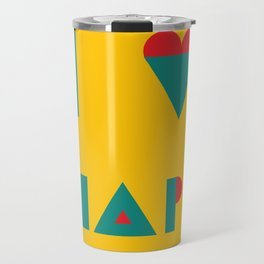 I heart Shapes Travel Mug
