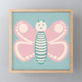 Bubbly Butterfly Framed Mini Art Print