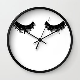 Eyelashes Lashes Art Wall Clock