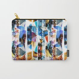 Colorful brushed stripes painting Carry-All Pouch