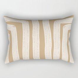 White Walls abstract Rectangular Pillow