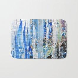 Blue Earth Abstract Bath Mat