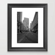 Boston streets Framed Art Print