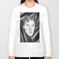 benedict cumberbatch Long Sleeve T-shirts featuring Benedict Cumberbatch by Cassandra Moonen