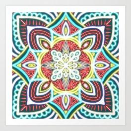 Mandala Glow Central  Art Print