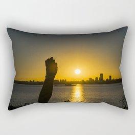 Sunset Cityscape Scene, Montevideo, Uruguay Rectangular Pillow
