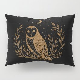 Owl Moon - Gold Pillow Sham
