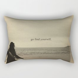GO FIND YOURSELF Rectangular Pillow