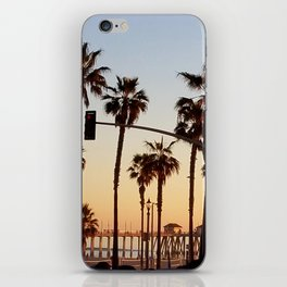 Huntington Beach Summer Sunset at the pier iPhone Skin