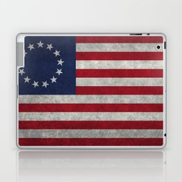 USA Betsy Ross flag - Vintage Retro Style Laptop & iPad Skin