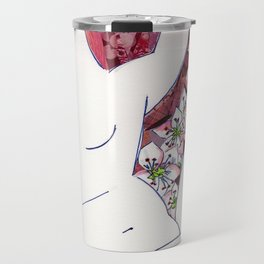 Nude with Red Flowers Travel Mug
