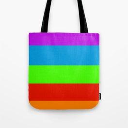 Fluorescent Rainbow |7 Colours Tote Bag