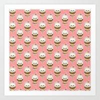 Ice Cream Kitty Art Print